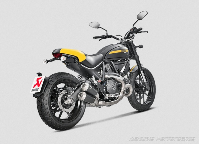 ducati scrambler 800 akrapovic auspuff italobike. Black Bedroom Furniture Sets. Home Design Ideas