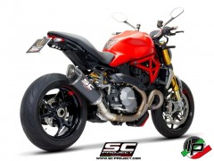 SC Project SC1-R Euro4 Carbon Auspuff für Ducati Monster 1200 MY17 & R
