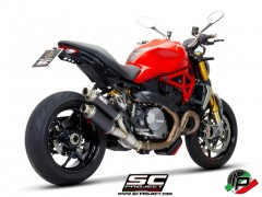 SC Project Twin GP Euro4 Auspuff für Ducati Monster 1200 MY17 & R