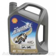 Shell Advance Ultra 15W-50 Motoröl - 4L - Vollsynthetisch